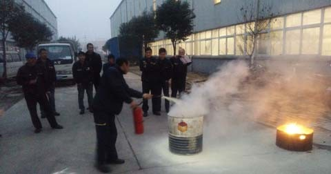 A Fire Drill in Luoyang Factory of Sinorock