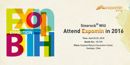 Sinorock Will Attend Expomin 2016