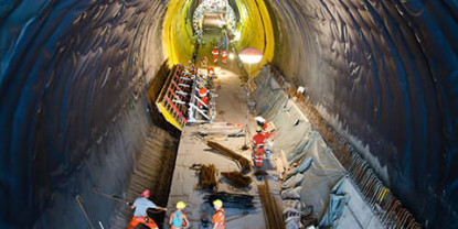 Ceneri Base Tunnel Construction